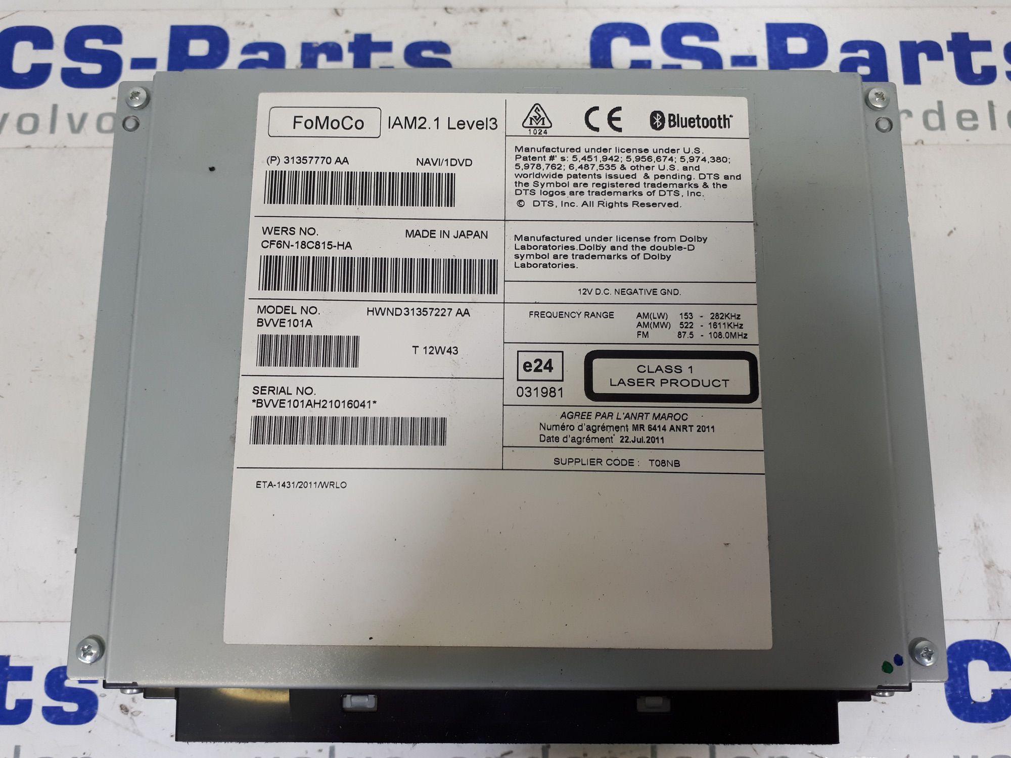 Radio/cd Volvo S60, S80, V60, V70, XC60, XC70 | CS-Parts